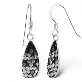 "Stříbrné náušnice s krystaly ""Haleigh"" visací. Ag 925/1000"